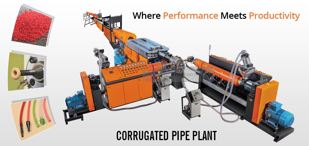 Pipe Corrugator Machines And Plant | Volcano Flexi Tech